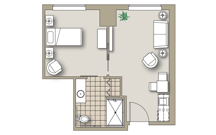 Onebedroom-A-Greenbriar
